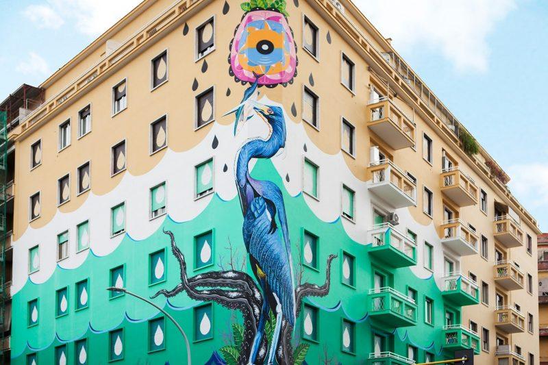 Street Art mangia smog Roma-New York